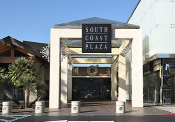 South Coast Plaza shopping mall entrance